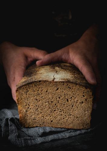 Viso grūdo ruginė duona be pridėtinio cukraus