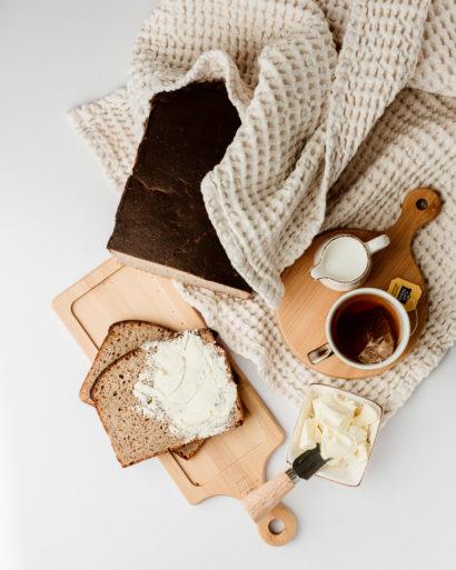 Ruginė duona be mielių